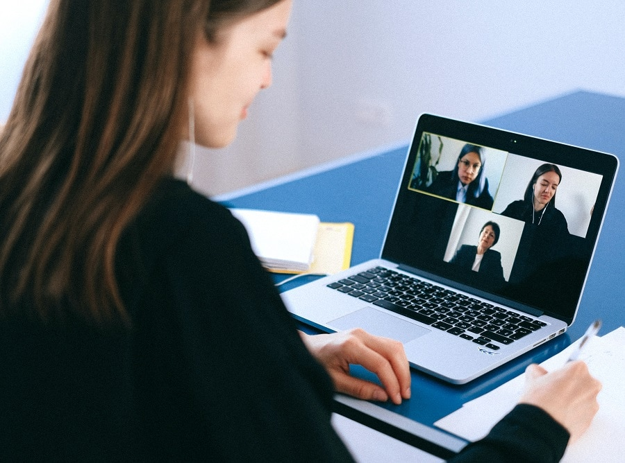 Video Call Meeting on a Laptop
